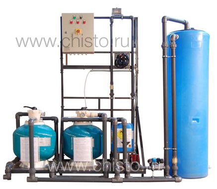 Установка очистки и рециркуляции воды СОРВ-2/400-Р-2Ф