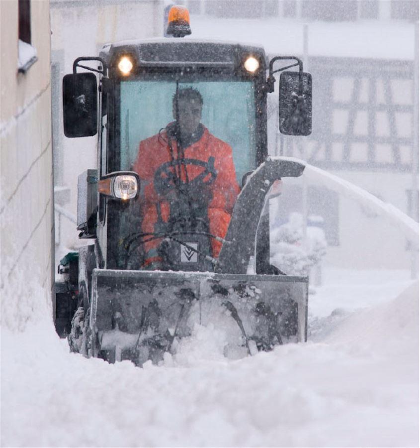 Шнеко-роторный отбрасыватель снега для Karcher MC 50