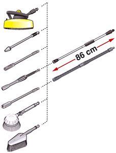 3-ступенчатая удлинительная трубка насадка (1.7м) для K2 - K7