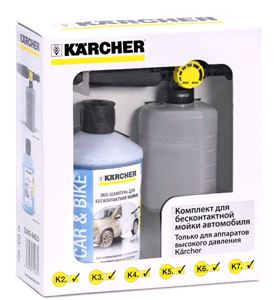 Насадка для бесконтактной мойки Karcher (0,6л) и моющее средство (UFC)