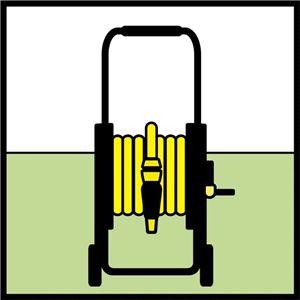 Металлическая тележка для шланга Karcher HT 80М