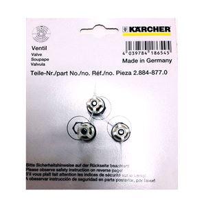 Комплект клапанов для моек Karcher K4, K5, K6, K7 (3шт.)