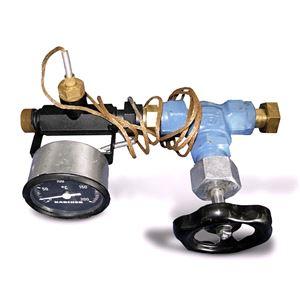 Вентиль для регулировки байпаса (термометр запорный кран)