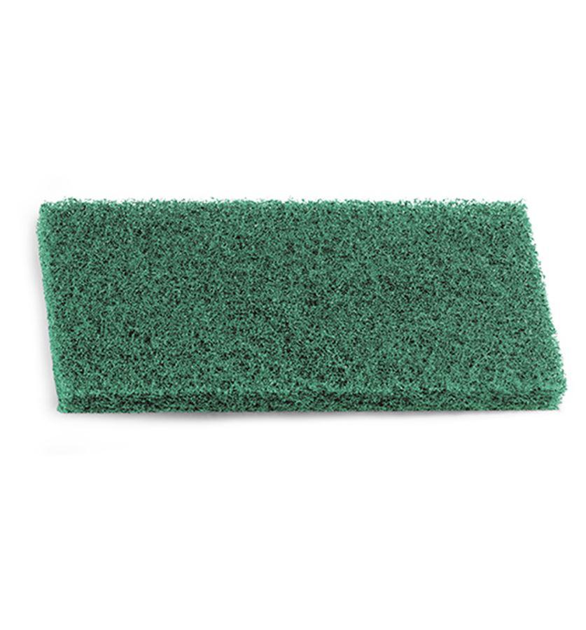 Губка средне-высокой степени абразивности, зеленая, 25*12*2 см