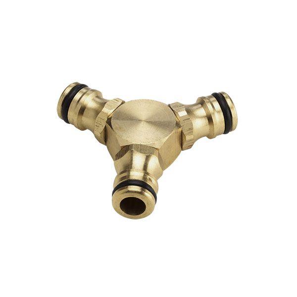 Латунный 3-сторонний соединитель для систем водоснабжения и полива