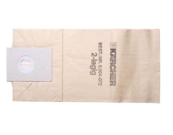 Фильтр-мешки, 5 шт, бумажные для пылесоса Karcher TE (2.000, 2.000 , 3.500, 3.501)