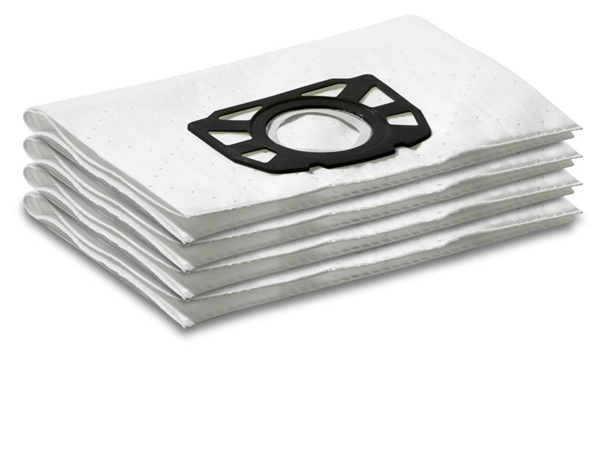 Фильтр-мешки, 4 шт, флисовый для пылесосов WD (7.000, 7.300, 7.500, 7.700 P, 7.800 eco!gic)
