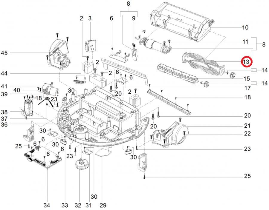 Щётка для робота пылесоса RC 3