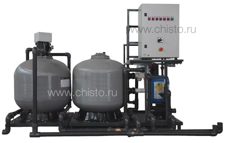 Установка очистки и рециркуляции воды СОРВ-10/2000-А-2Ф-АП